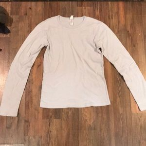 Baby blue long sleeve top